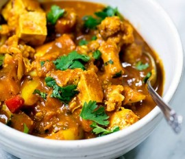 Curried Vegetarian Stew with Winter Squash and Tofu